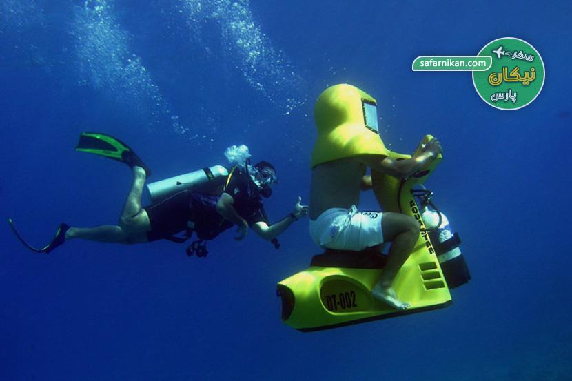 اسکوتر برقی دریایی کیش