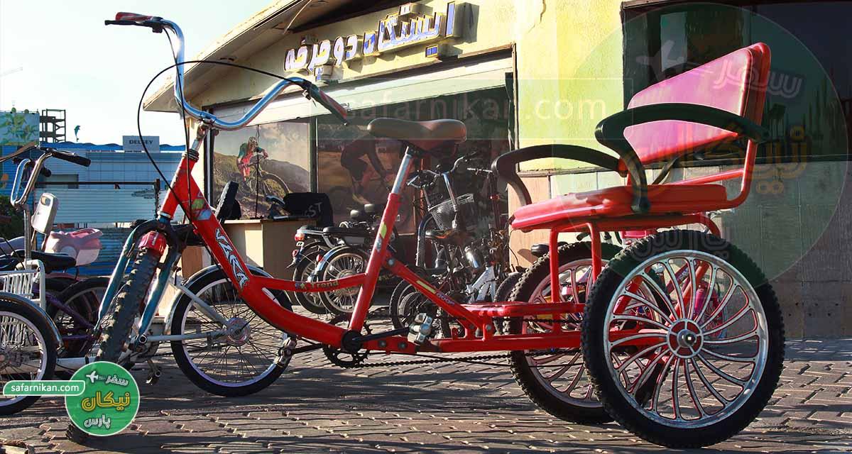 اسکله تفریحی در کیش دوچرخه